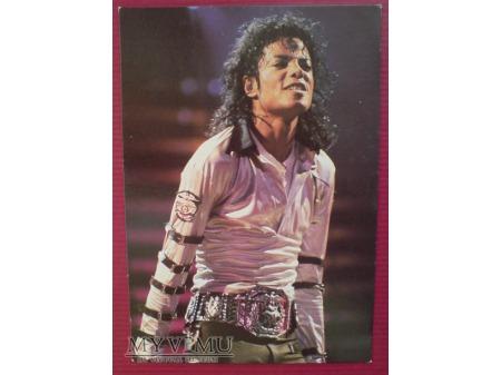 Michael Jackson Król Pop-u Pocztówka lata 1980 -te