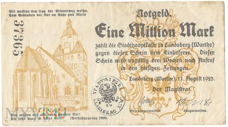 Eine Million Mark -Landsberg a.d.Warthe