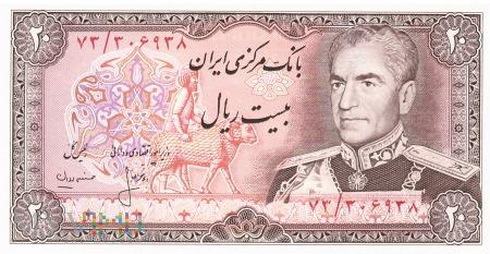 Iran - 20 riali (1974)