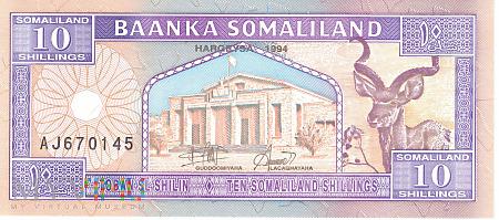 Somalia (Somaliland) - 10 szylingów (1994)