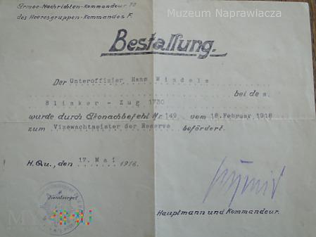 Dyplom mianowania podoficera