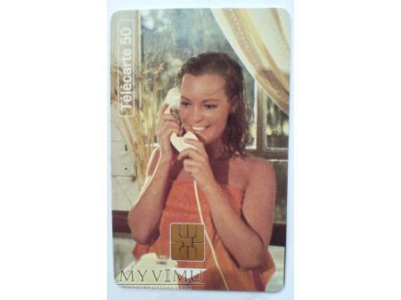 Romy Schneider BASEN 1969 karta telefoniczna