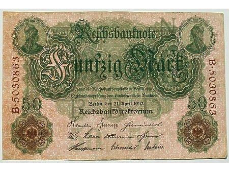 Niemcy- 50 marek 1910