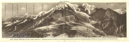 MONT-BLANC - pocztówka panoramiczna