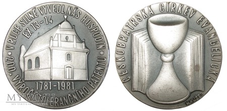 200-lecie Patentu tolerancyjnego medal 1981