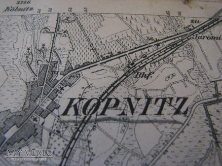 MAPA TOPOGRAFICZNA 2193 UNRUHSTADT [KARGOWA]