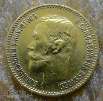 Rosja Mikołaj II 5 Rubli 1900