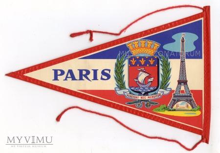 Duże zdjęcie Proporczyk souvenir - Francja Paryż 1963