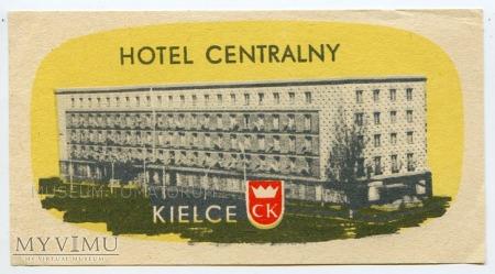 Nalepka hotelowa - Kielce - Hotel Centralny