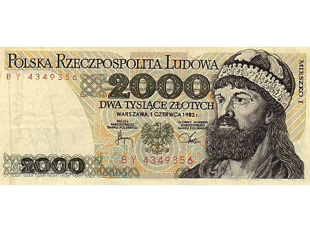 2000 Złotych 01.06.1982 r.