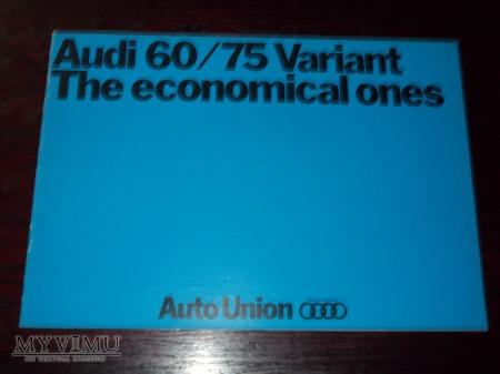 Prospekt AUDI 60/75 VARIANT