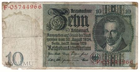 Niemcy, 10 marek 1929r. Ser.F