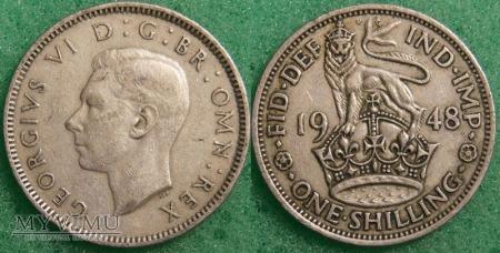 Wielka Brytania, 1 SHILLING 1948