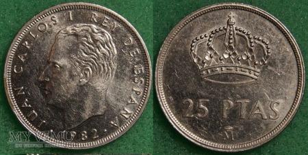 Hiszpania, 25 PESETAS 1982