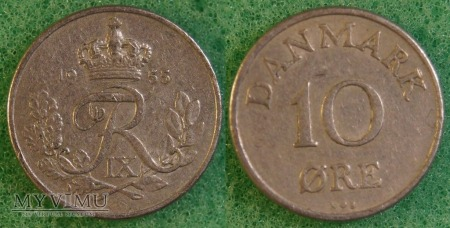 Dania, 10 Øre 1955