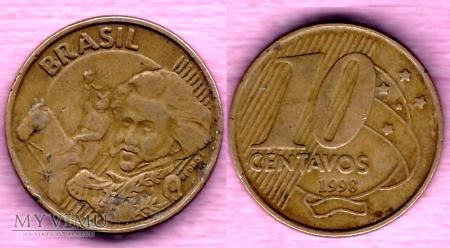 Brazylia, 10 centavos 1998