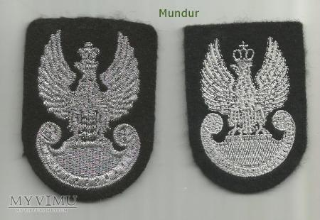 Orzełki wz.93 do czarnego beretu (haft maszynowy)