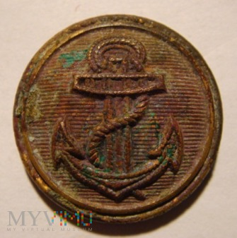 Duże zdjęcie Guzik Kriegsmarine złocony, tło kreskowane poziomo