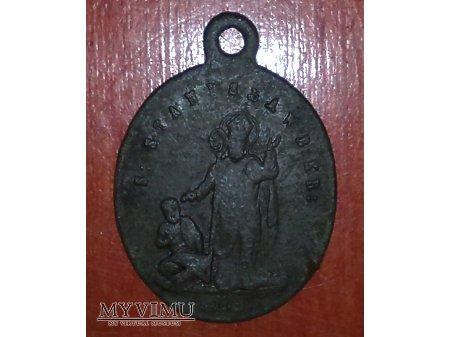 Stary medalik z 1868 r. z parafii Czemierniki