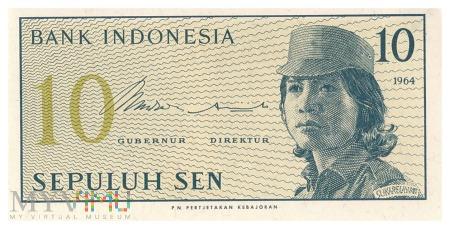 Indonezja - 10 senów (1964)