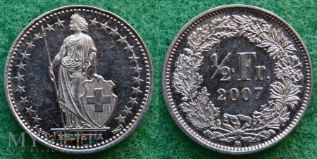 Szwajcaria, 1/2 Franc 2007