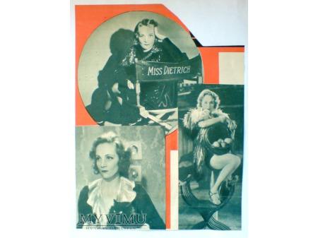Marlene Dietrich wycienk prasowy Polska lata 30te