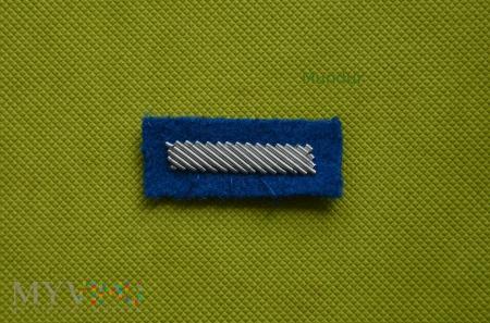 Haftowany bajorkiem stopień na beret niebieski
