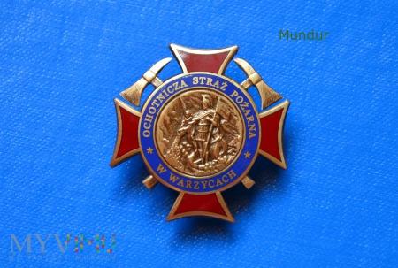 Odznaka pamiątkowa OSP w Warzycach emaliowana