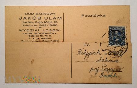 Pocztówka DOM BANKOWY, 13 września 1930