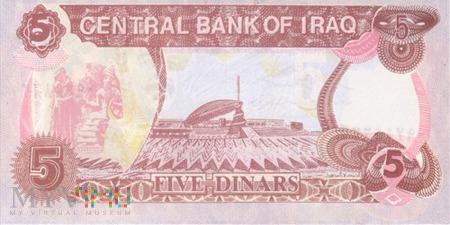 IRAK 5 DINARÓW 1992