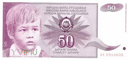 Jugosławia - 50 dinarów (1990)