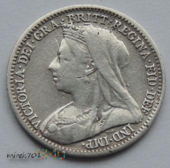 Moneta 3 Pence 1896