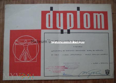 Dyplom Kredą na asfalcie 1967 rok