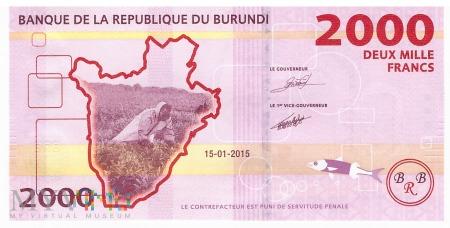 Burundi - 2 000 franków (2015)