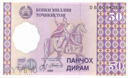Tadżykistan - 50 diramów (1999)