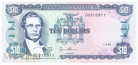 Jamajka - 10 dolarów (1994)