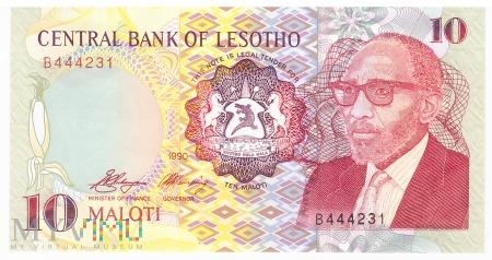 Lesotho - 10 maloti (1990)
