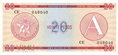 Kuba - 20 pesos (1985)