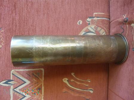 Duże zdjęcie Wazon z łuski 7,7 cm FK 96 n.A. 1916 r. mot. Egipt