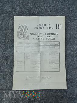 Duże zdjęcie Plakat Sygnały Alarmowe w OC