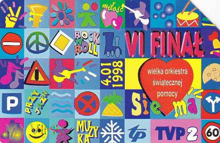 Karta telefoniczna - VI Finał WOŚP 4.01.1998