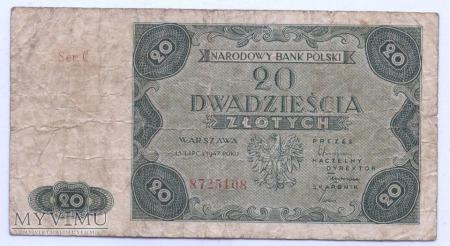 Duże zdjęcie 20 złotych - 1947.