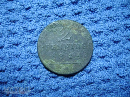 2 pfennig 1844