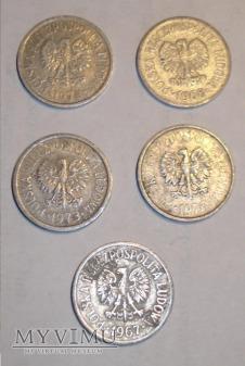 zbiór 10 groszówek 1967-1978