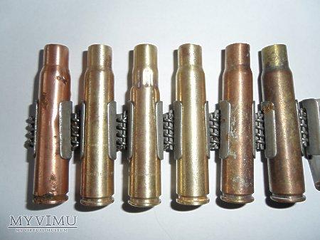 Taśma amunicyjna do M.G. szczegóły z amunicją
