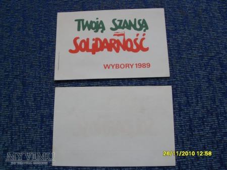 """Naklejki """"Solidarności"""" (2szt.)-1989r."""