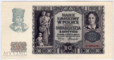 01.03.1940 - 20 Złotych