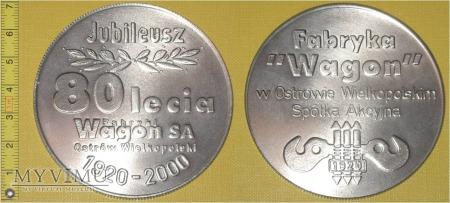 Duże zdjęcie Medal kolejowy - firmowy Fabryki Wagon Ostrów W.