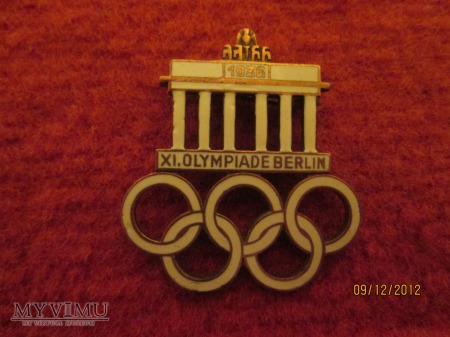 Oficjalna odznaka XI Olimpiady w Berlinie 1936r.