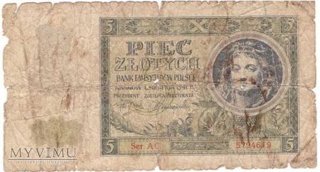 5 zł 1941r. Ser. AC